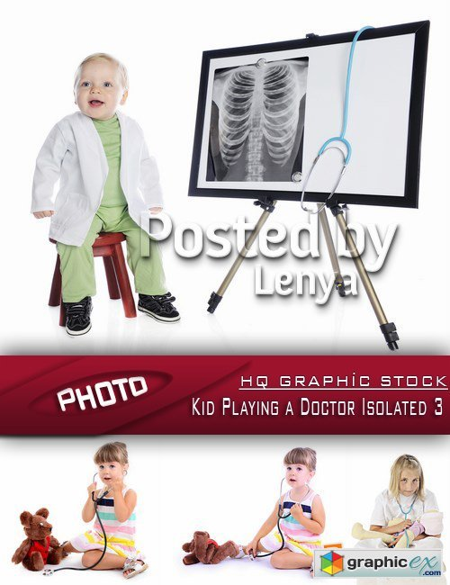 Stock Photo - Kid Playing a Doctor Isolated 3