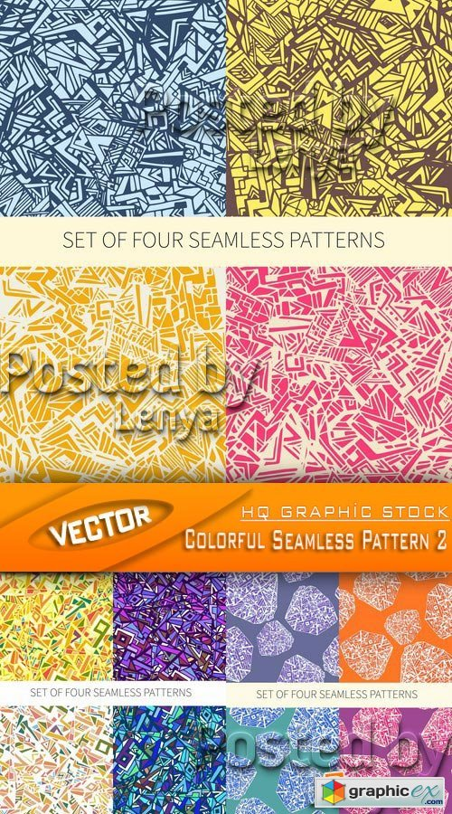 Stock Vector - Colorful Seamless Pattern 2