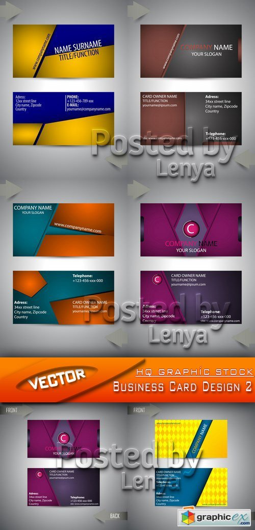 Stock Vector - Business Card Design 2