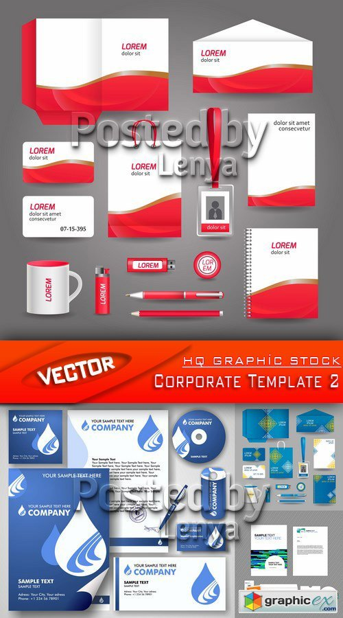 Stock Vector - Corporate Template 2