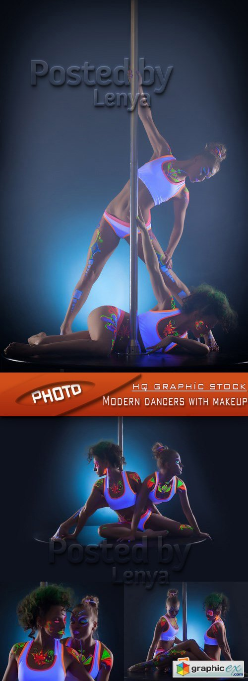 Stock Photo - Modern dancers with makeup