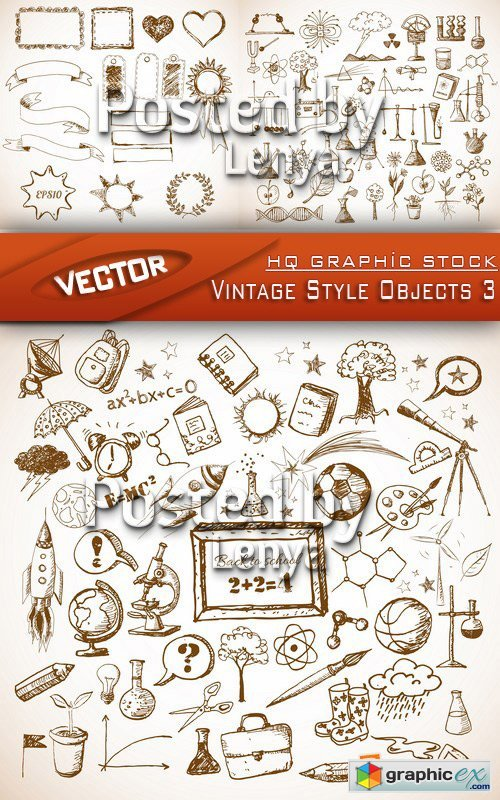 Stock Vector - Vintage Style Objects 3