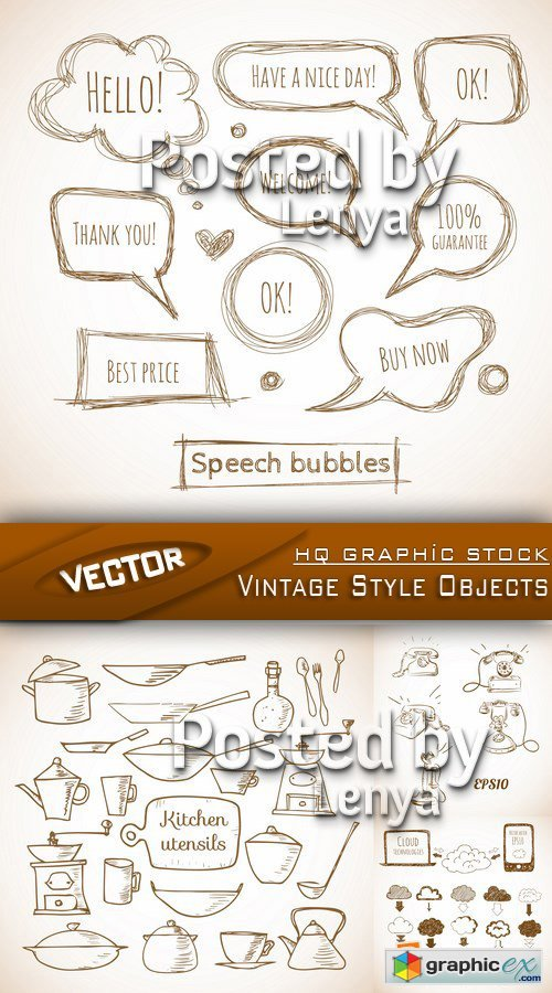 Stock Vector - Vintage Style Objects 2