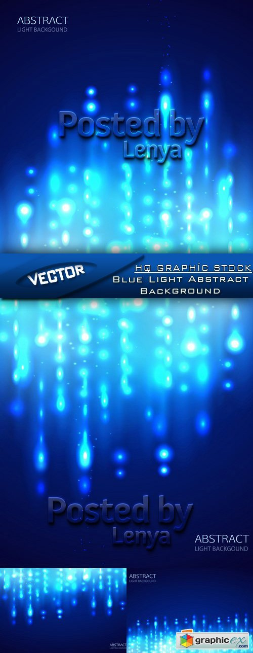 Stock Vector - Blue Light Abstract Background