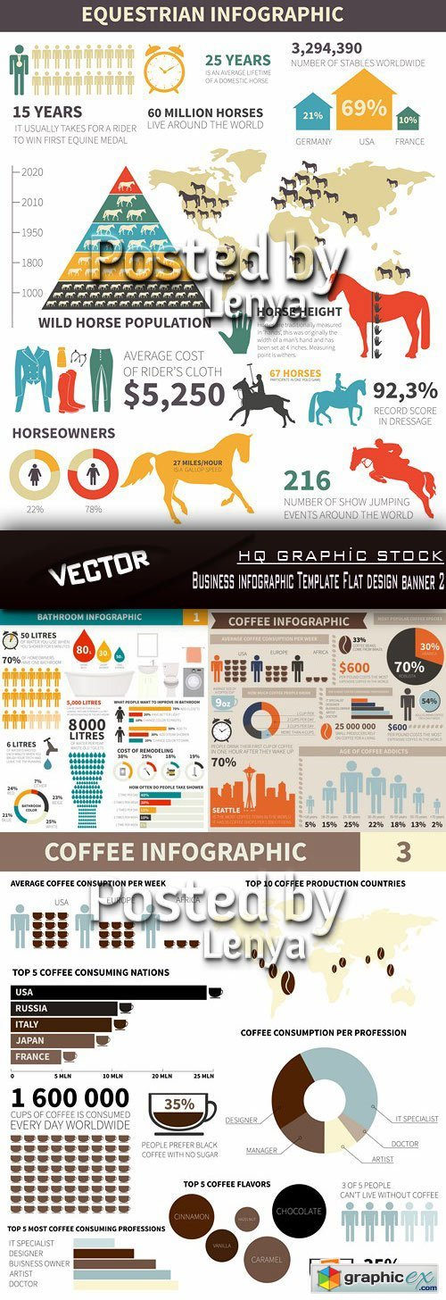 Stock Vector - Business infographic Template Flat design banner 2