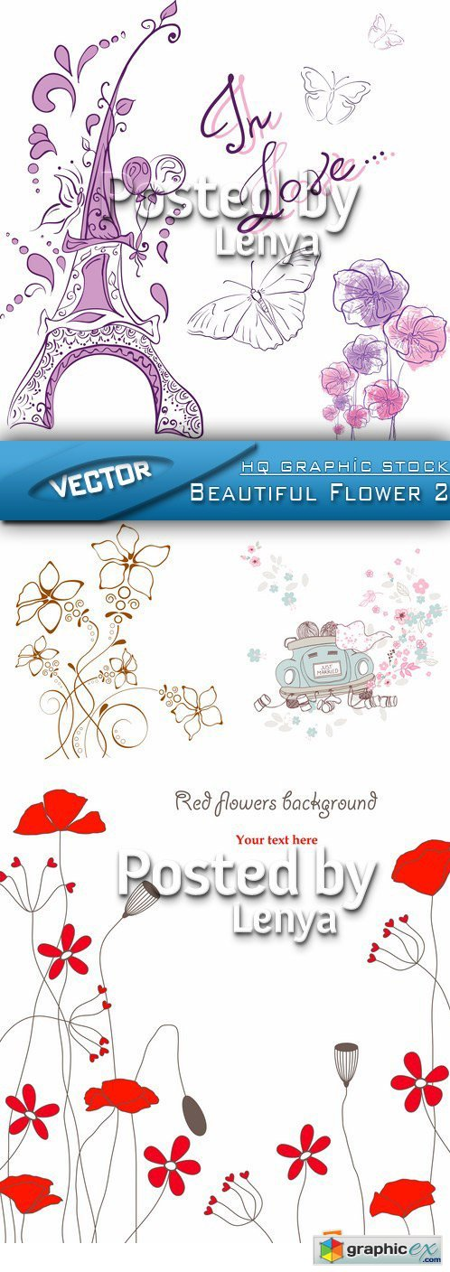 Stock Vector - Beautiful Flower 2