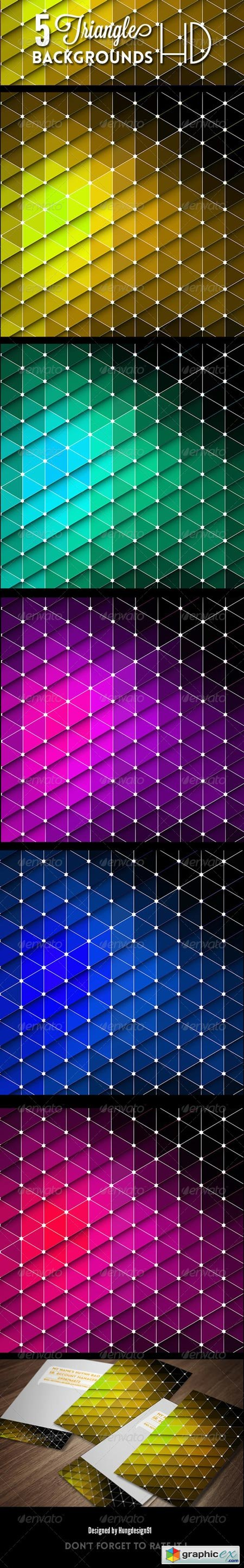 5 Triangle Backgrounds HD 7111259