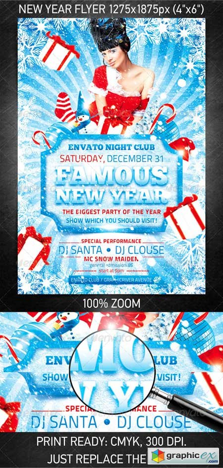 Famous New Year flyer
