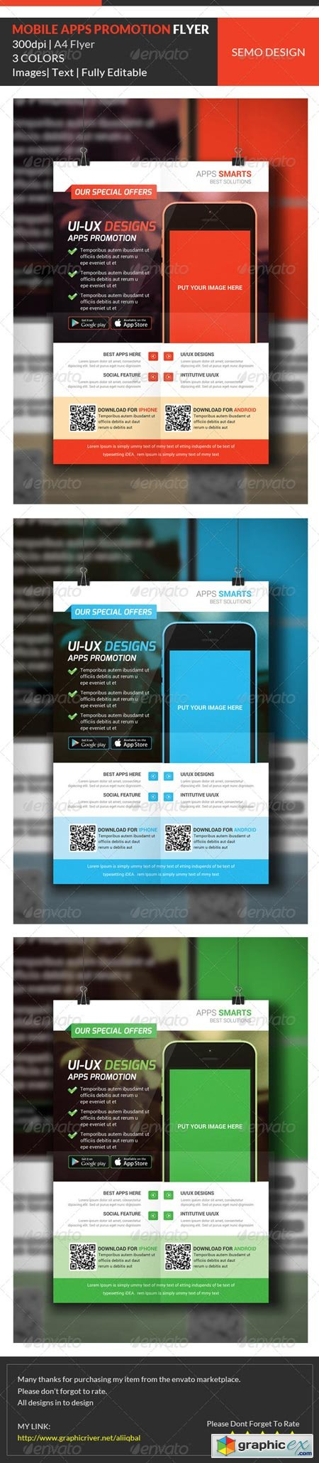 Mobile Apps Promotion Flyer Template 7097184