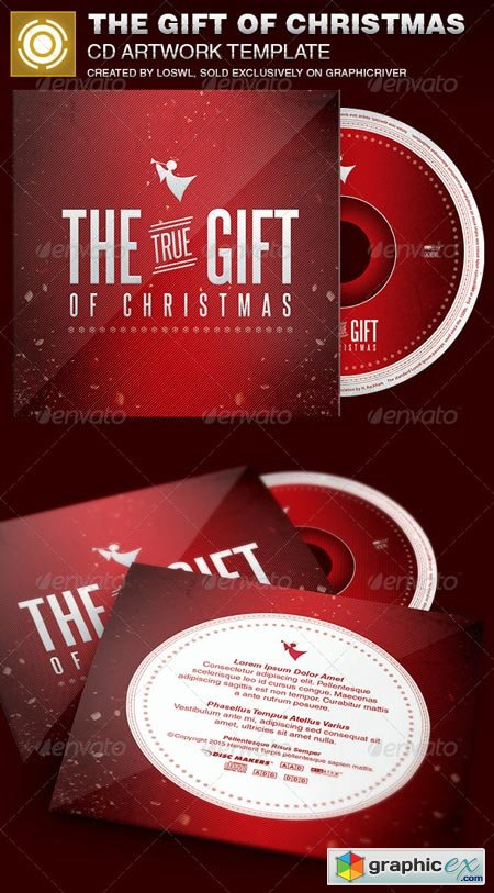 The Gift of Christmas CD Artwork Template 6949355