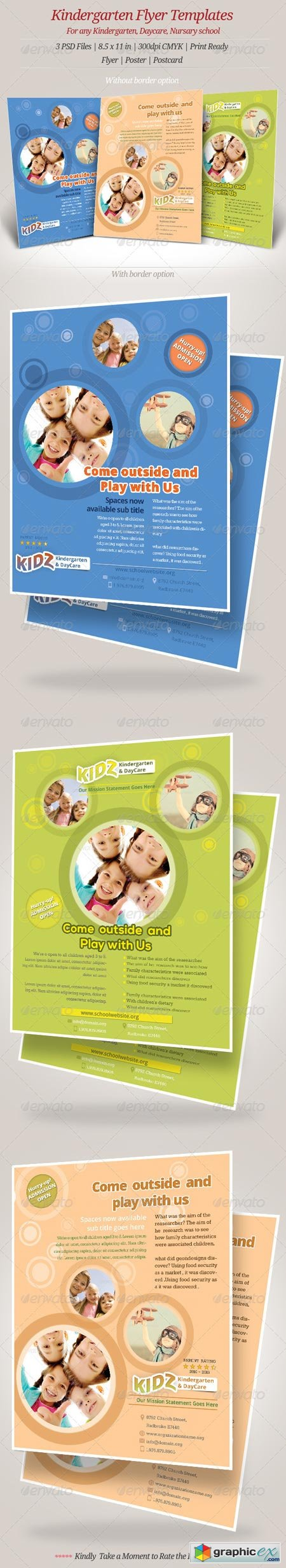 kindergarten daycare flyer templates  kindergarten daycare flyer templates 6972717