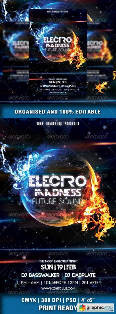Electro Madness Party Flyer Vol3 6950675