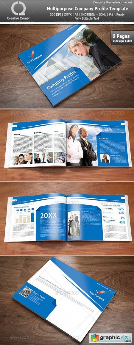 Multipurpose Company Profile Template Free Download Vector – Templates for Company Profile