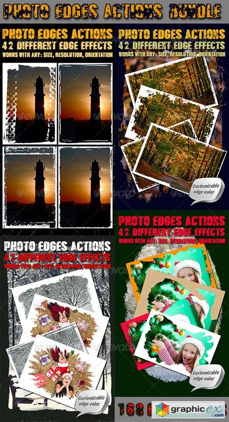 Photo Edges Actions for Photoshop Bundle 6539382