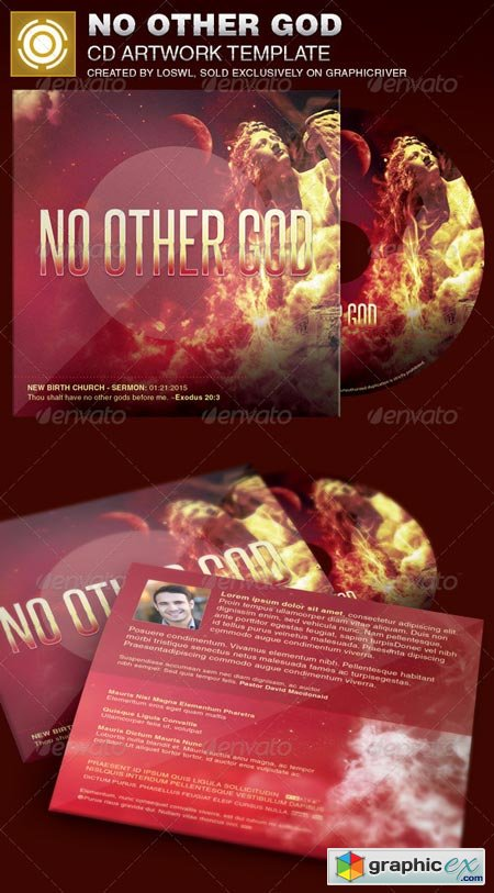 No Other God CD Artwork Template 6925572