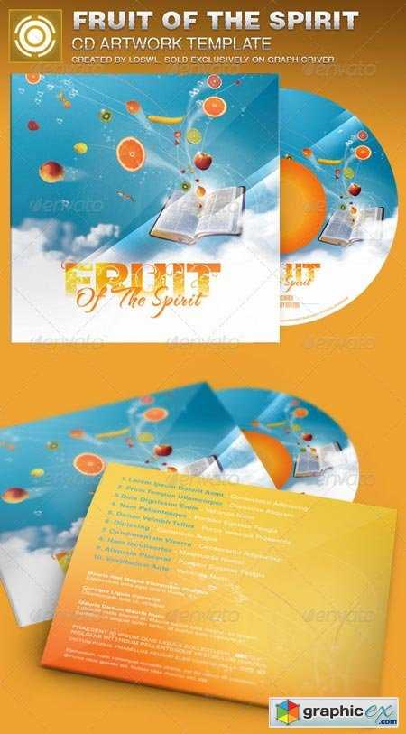 Fruit of the Spirit CD Artwork Template 6926088