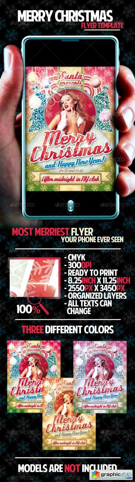 Merry Christmas Flyer Template 837494