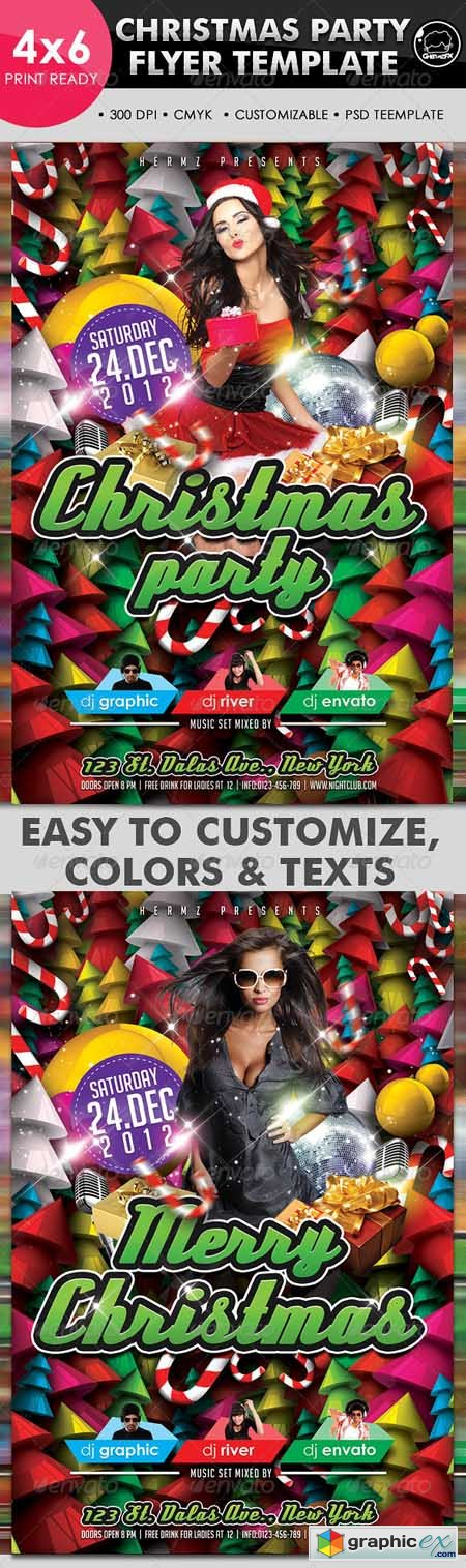 Christmas Party Flyer Template 3325890