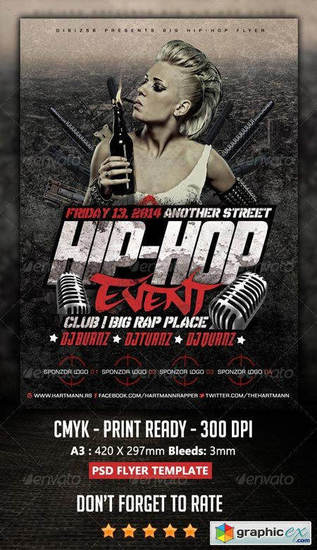 Hip Hop Flyer 6924917 Free Download Vector Stock Image Photoshop Icon