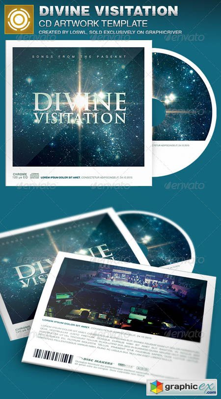 Divine Visitation CD Artwork Template
