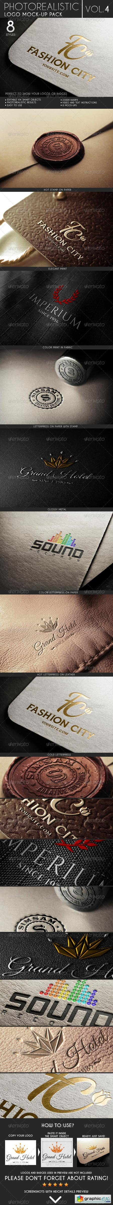 Photorealistic Logo Mock-Up Pack Vol.4 6879129