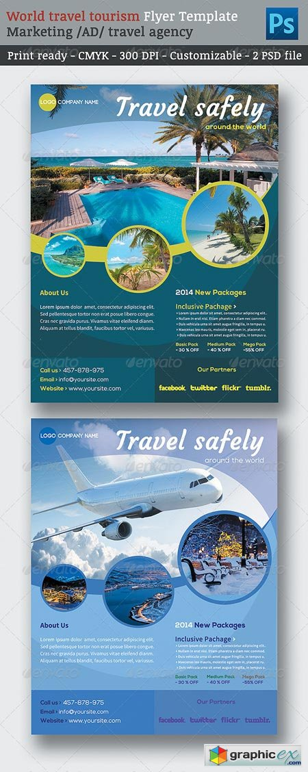 World Travel Tourism Marketing Flyer Template 6913942