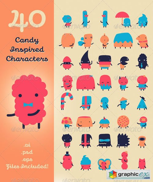 40 Candy Inspired Characters 409294
