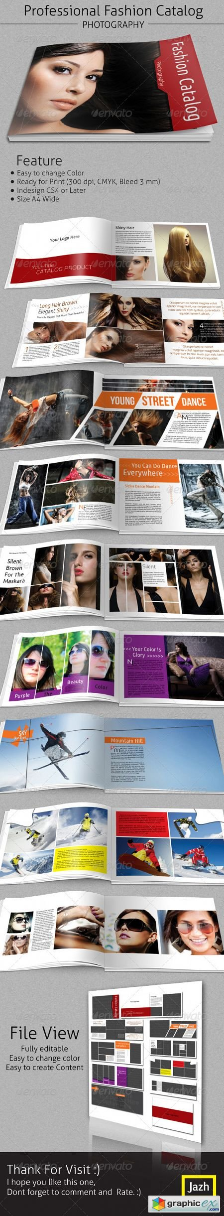 Fashion Catalogs Brochure A4 Wide