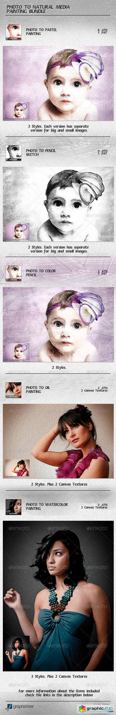 Photo to Natural Media Painting Bundle 6767279