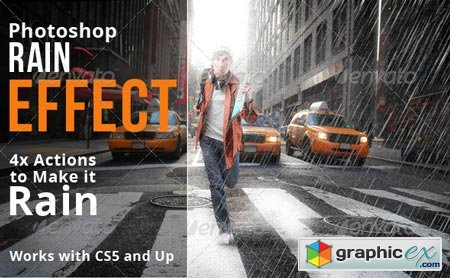 Rain Effect Photoshop Actions 6714180