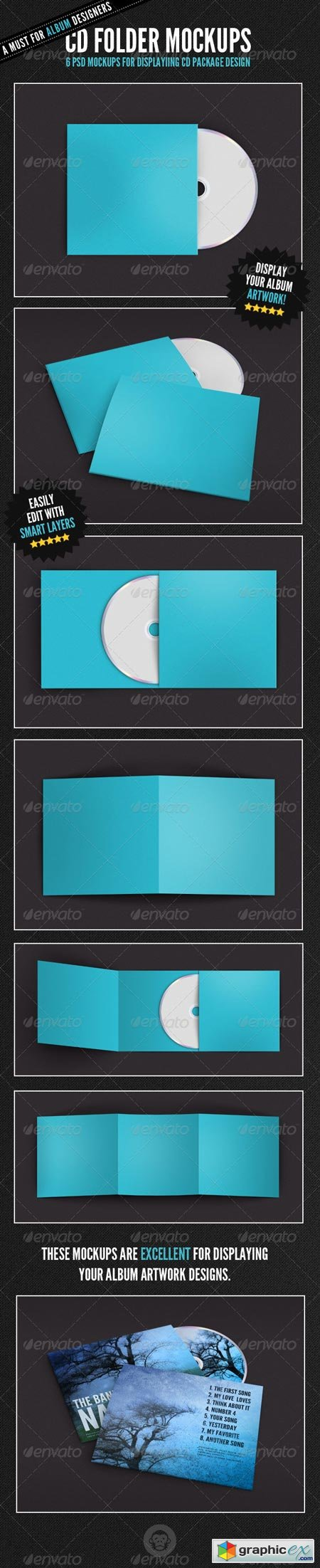 Album Cover - CD Folder Mockups 6705933