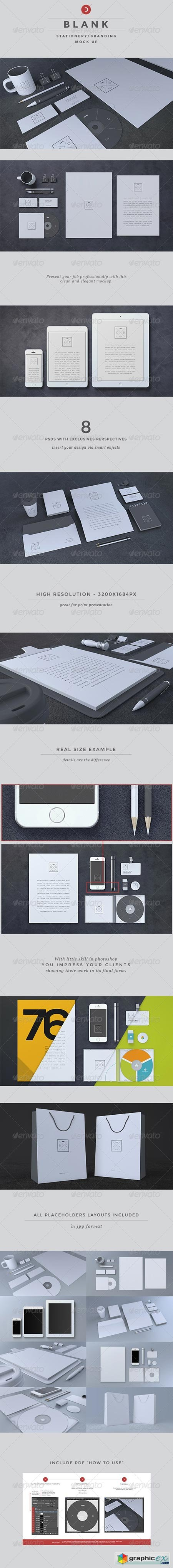 Blank Stationery Branding Mock-Up 6617098