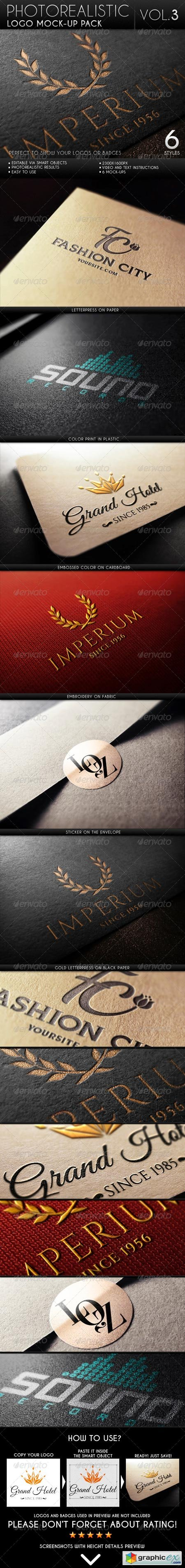 Photorealistic Logo Mock-Up Pack Vol.3 6627640