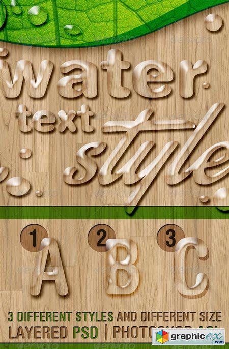 Water Text Styles 6584963