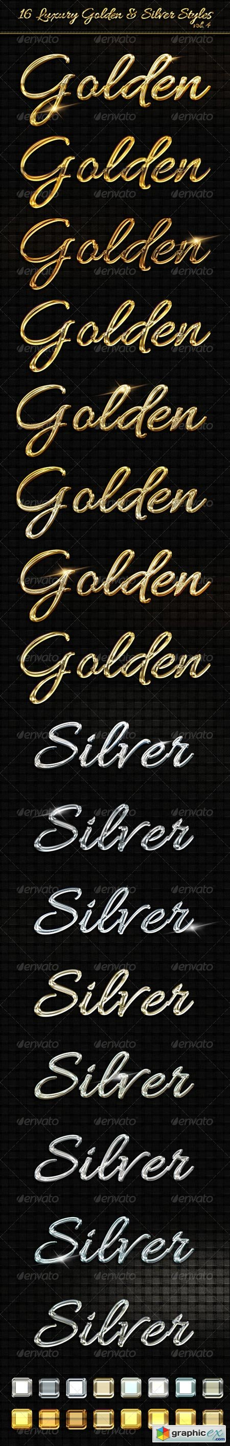 16 Luxury Golden & Silver Text Styles vol4 6559837