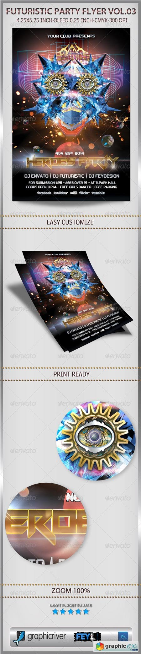 Futuristic Party Flyer Vol.03 6219880