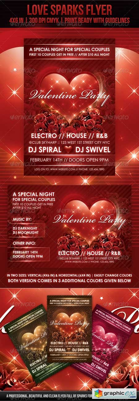 Love Sparks Valentine Flyer 1369269