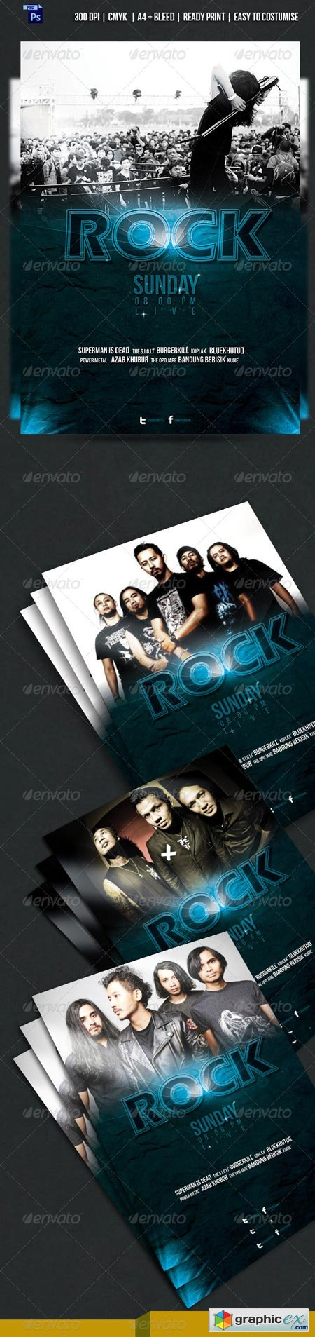 KOPLAX - Rock Band Concert Flyer 6680437