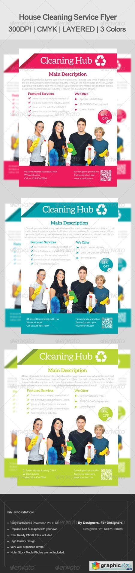 House Cleaning Services Flyer Template 6680889