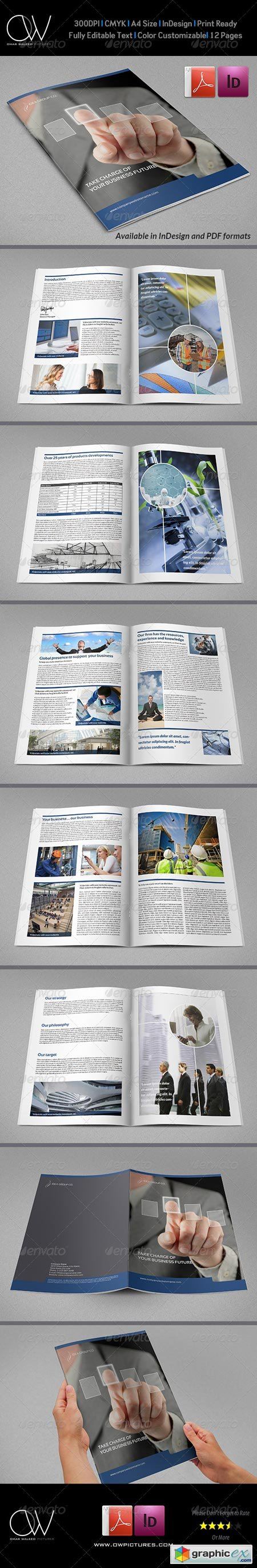 Corporate Brochure Template Vol.22 - 12 Pages 6680966