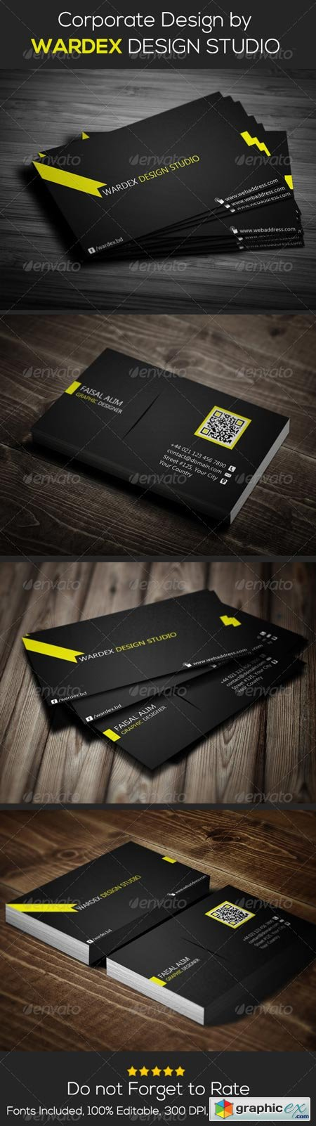 Corporate & Pro Business Card Dersign 6680901