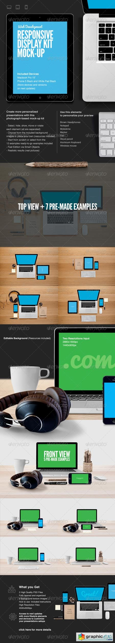 Responsive Web Display Kit Mock-Up 6619319