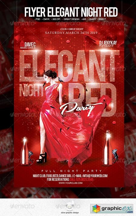 Flyer Elegant Night Red 6562850