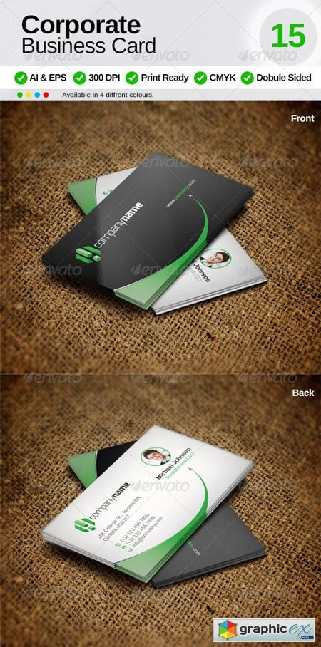 Corporate Business Card 15 6665921
