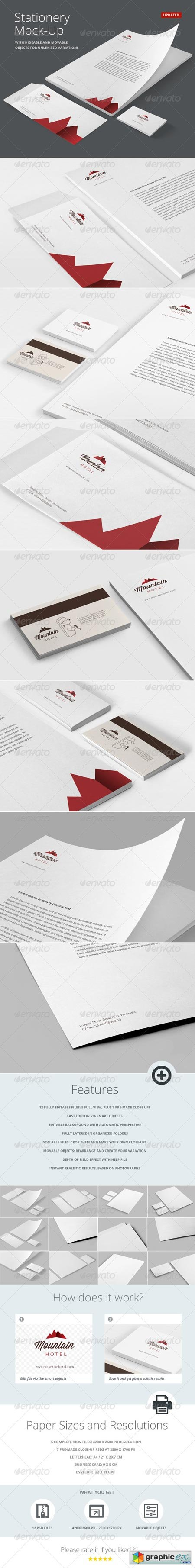 Stationery Branding Mock-Up 6078175