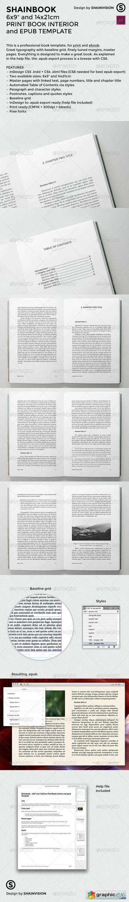 Shainbook � Print Book interior and epub Template 6603505