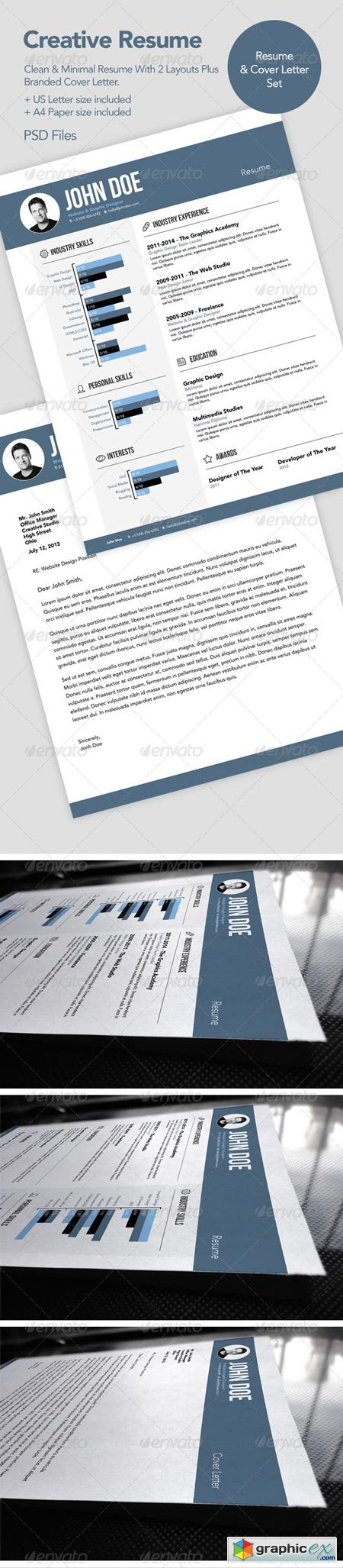Creative Resume CV & Cover Letter 6577726