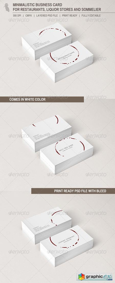 Business Card for Restaurants and Liquor Stores 6603672