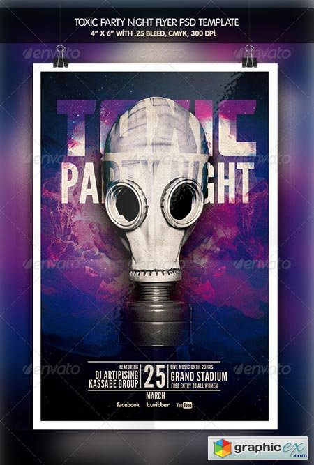 Toxic Party Night Flyer 6412495