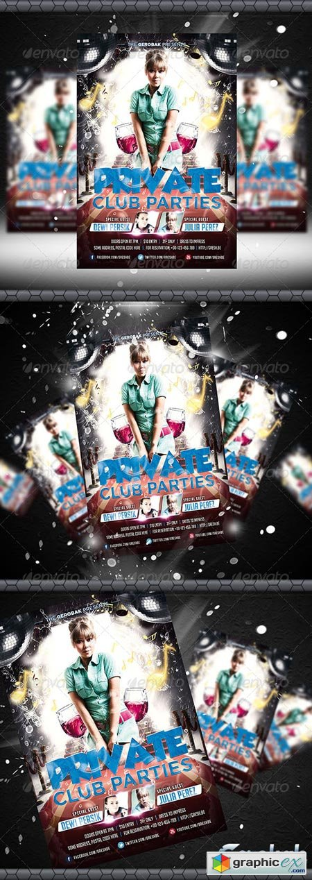Private Club Parties Flyer Template 6412856